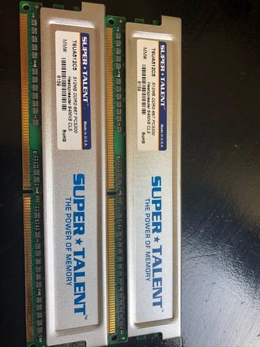 Memoria Pc Super Talent Con Disipador 2 X 512mb