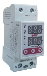 Protector Tension Monofasico 40a Digital Din Volt Amp Baw R