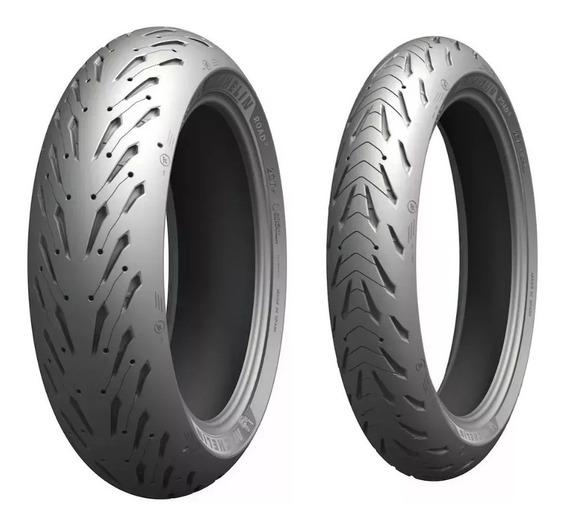 Par Pneu Hornet 120/70-17 180/55-17 Michelin Road 5