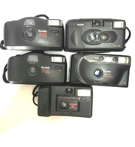 5 Câmera Fotografica Analogica Kodak Retro P/ Coleção