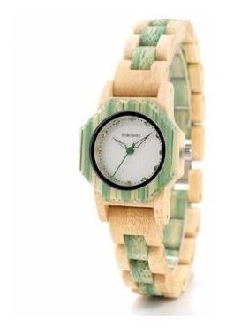 Relógio Feminino Bambu Analóg Bobo Bird O11 + Frete Lindo!