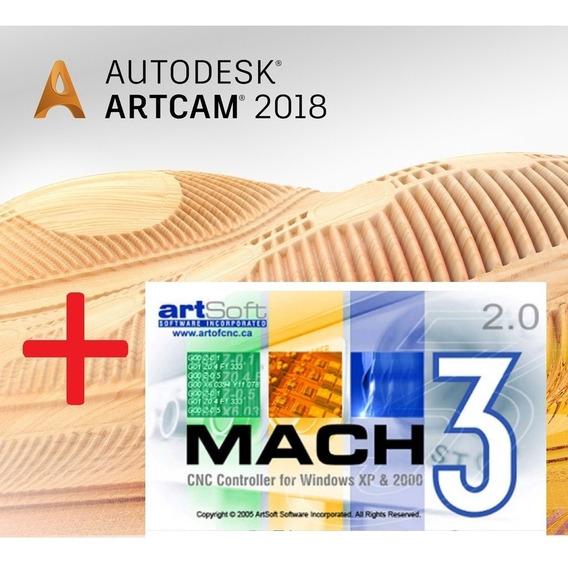 Artcam 2018 + Mach3 Licenciado Português