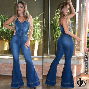 Macacão Flare On Line Jeans, Mesma Industria Rhero Jeans.
