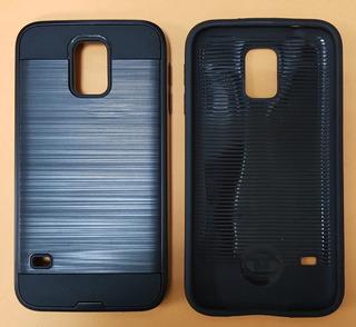 Estuche Samsung S5 Antigolpe Negro Brush