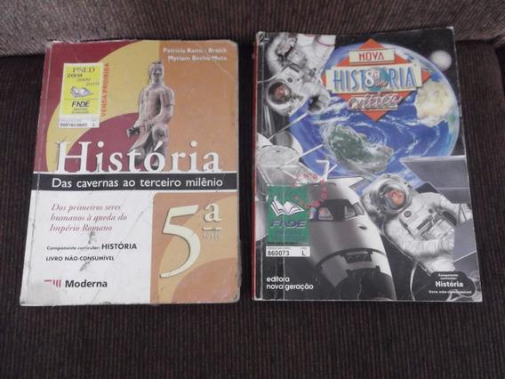 Lote 2 Livros Didáticos História 5º E 8º Anos