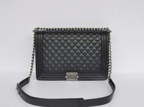 846501d8f Bolsa Chanel Saco Original Femininas - Bolsas de Couro Preto no ...