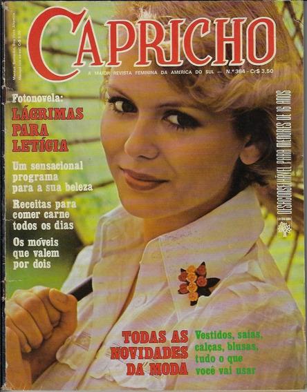 1974 Revista Capricho Nº 364 Editora Abril Fotonovela