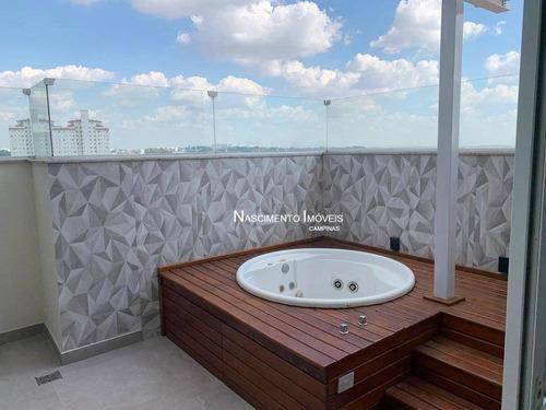 Cobertura Duplex Com 3 Suítes À Venda, 136 M² Por R$ 898.000 - Mansões Santo Antônio - Campinas/sp - Co0119