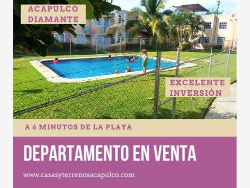 Departamento En Venta Planta Baja Zona Diamante 2 Rec Y Alberca