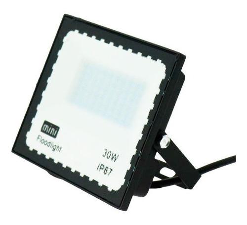 Reflector Mini Led Exterior Intemperie Agua Luz Blanca 10w
