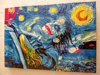 Cuadro Decorativo Joker Noche Estrellada Tipo Van Gogh