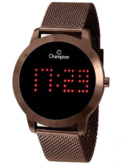 Relógio Champion Feminino Digital Ch40017r Marrom Chocolate