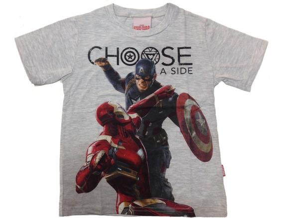 Camiseta Civil War Capitão America Vs Homem Ferro Brandili