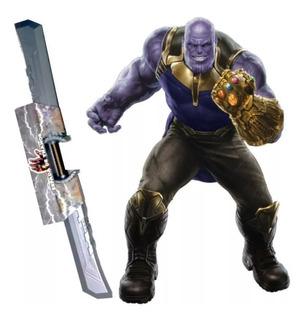 Espada Doble Filo Thanos 1 Metro Guante Guantelete Infinito