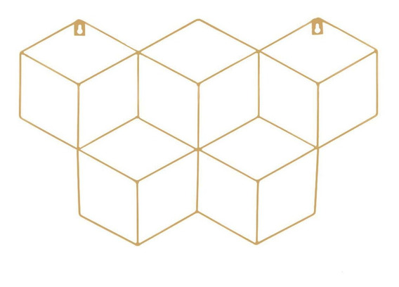Memory Board Cubo Quadro De Fotos Bege - 45cm X 63cm