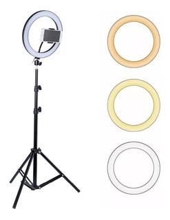 Tripode Aro De Luz Selfie 210 Cm Profesional Diametro 26 Cm