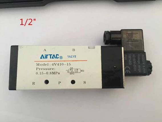 Válvula 5/2 Vias 1/2 220v Airtac