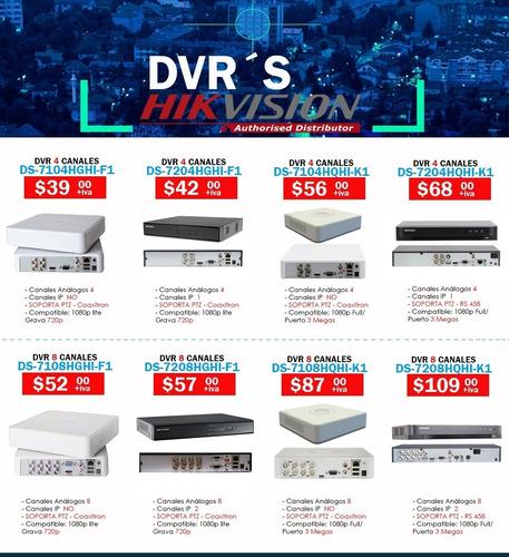 Dvr  8 Canales Hikvision Ip Grabador Para Camaras Seguridad
