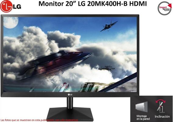 Monitor 20 Lg 20mk400h-b Hdmi Inclinación Montaje En Pared
