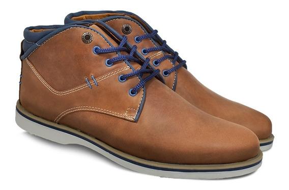 Bota Borcego Zapato Urbano Hombre Cuero Careva 345
