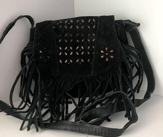Bolsa Em Couro - C/ Franjas - 0056