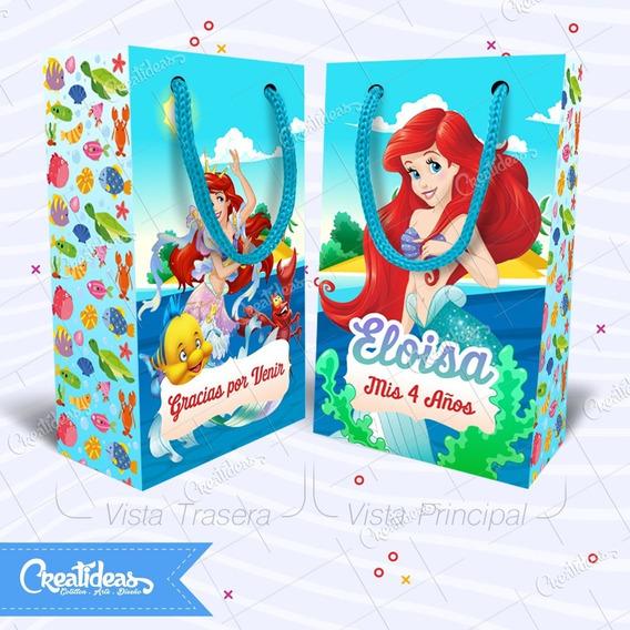 Sirenita Ariel Bolsitas Golosineras Personalizadas Pack X30