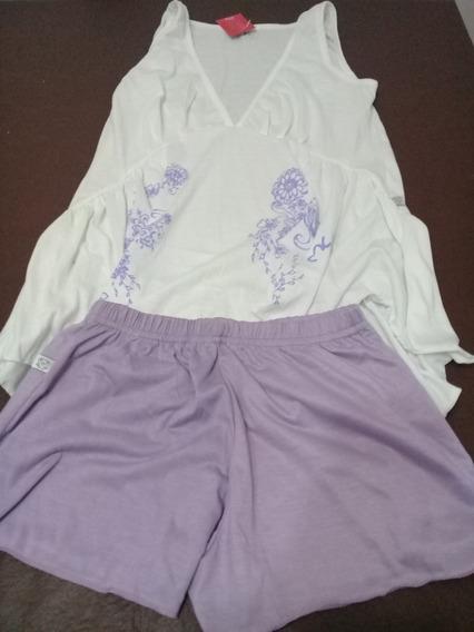 Pijama De Verano Wol Meli Remera Picos Talle M Liquidacion