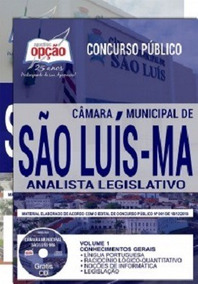 Apostila Câmara De São Luís-ma 2019 - Analista Legislativo [