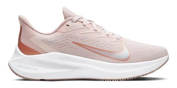 Tênis Nike Zoom Winflo 7 Feminino - Rosa E Dourado