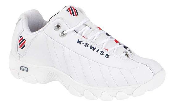 Tenis Casual Caballero K-swiss St-329 9130 Blanco