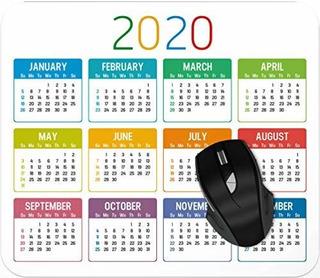 Colorido Año 2020 Calendario Mouse Pad Gaming Mouse Pad Mou