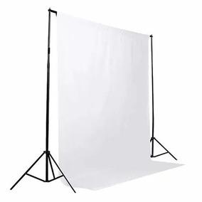 1 Tecido 2x3 Branco + Suporte Fundo Infinito+ Bolsa Foto