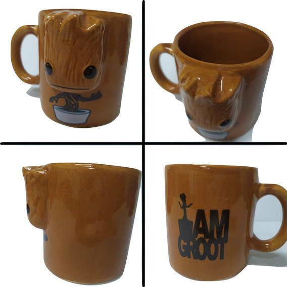 Taza Groot Con Relieve!guardians Of The Galaxy