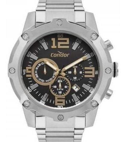 Relógio Condor Prata Masculino Original Garantia Nf