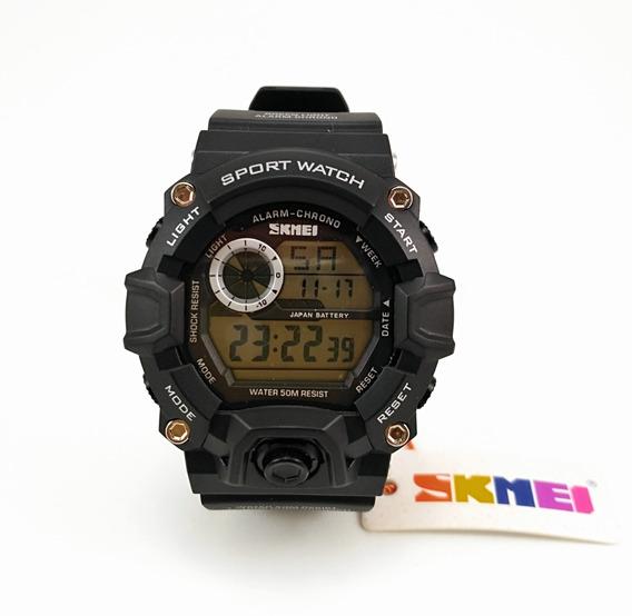 Relógio Digital Skmei Mod 1019 Preto Natação Camping Caça