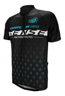 Camisa Ciclismo Asw Fun Equipe Sense 2019 Preto Azul