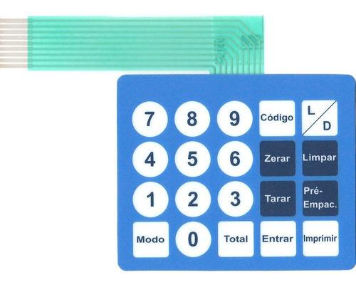 Imagem 1 de 2 de Teclado De Membrana Balança Toledo Prix 3 Lc Azul