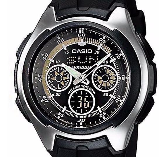 Relógio Casio Aq-163w-1b1vdf Active Dial Ana-digi Original