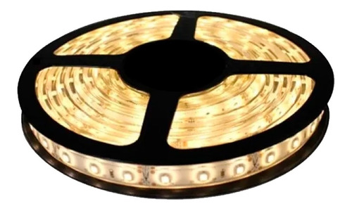 Tira Luz Led Calida Rollo 5 Metros Fuente Kit Completo 5050