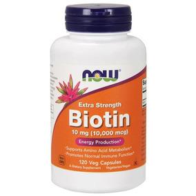 Biotina Now 10000 Mcg 120 Vegcps Importado Eua Original 10mg