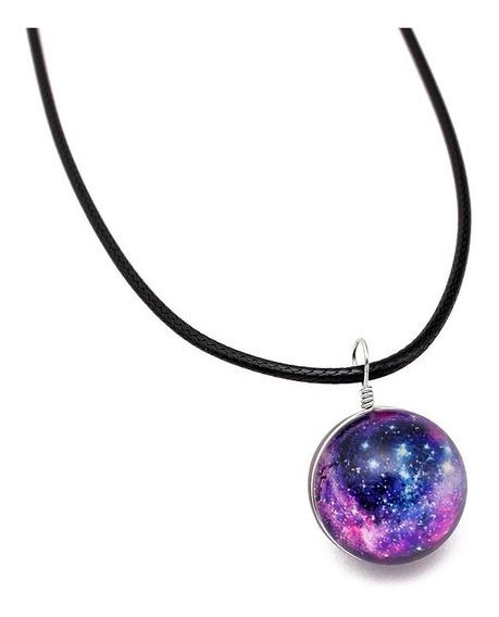 Colar Galáxia Nebulosa Galaxy Cordão Masculino Feminino