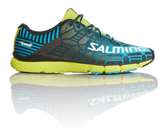 Zapatillas Salming Running Speed 6 Blue Lime Hombre