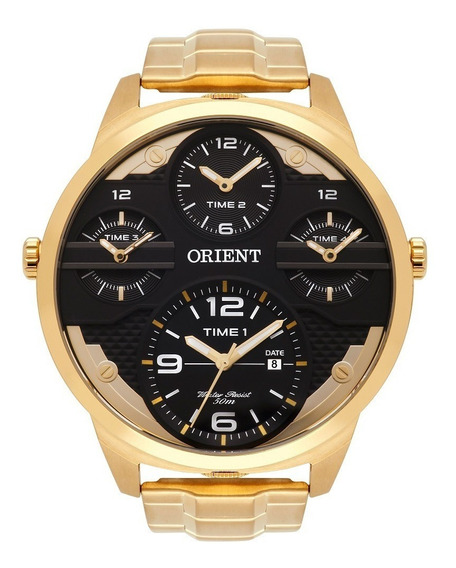 Relogio Orient Masculino Mgsst002 P2kx Dourado Lançamento