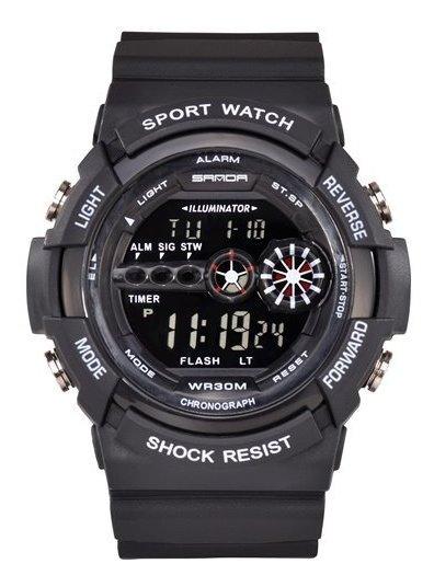 Relógio Masculino Militar Digital Sanda Esportivo Original