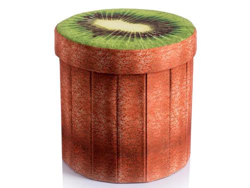 Imagen 1 de 6 de Puff Plegable Almacenaje Diseño Kiwi