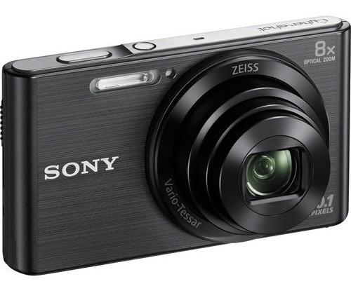 Câmera Sony Cyber-shot Dsc-w830 20.1 Mp Zoom 8x Hd Preto