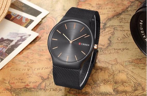 Relógio Curren 8256 Quartzo Luxo Masculino Ultra Thin Drop