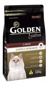 20 Kg Ração Golden Gatos Adultos Castrados Sab Carne 10,1kg