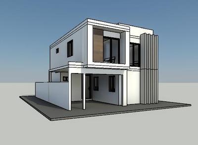 Plano De Casa En Terreno 8x12m 146.46 M2