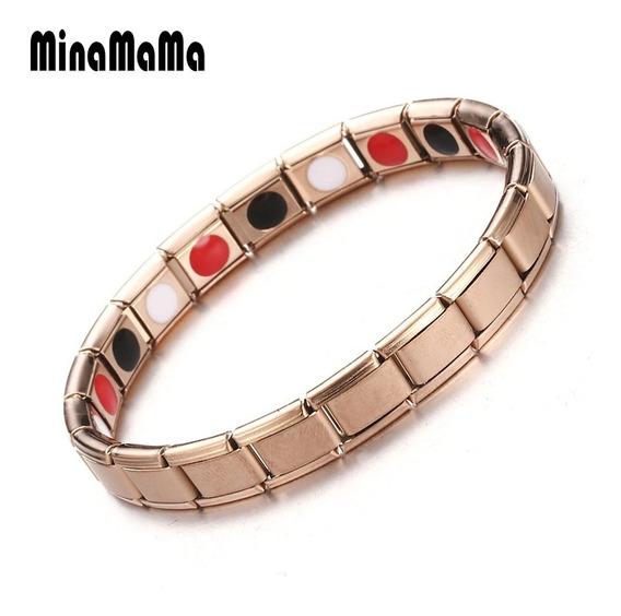 Bracelete Terap Aço-turmalina Magn-infra-vermelho Ions(-)ge